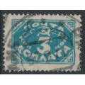 RUSSIA / USSR - 1925 3K blue Numeral Postage Due, perf. 14¾:14¼, used – Michel # P13IB