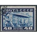 RUSSIA / USSR - 1930 40K deep blue Graf Zeppelin, perf. 10½, used – Michel # 390B