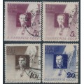 RUSSIA / USSR - 1934 Stratospheric Balloon Pilots set, used – Michel # 480AX+480AY-482AY