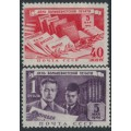 RUSSIA / USSR - 1949 Press Day set of 2, MH – Michel # 1343-1344