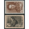 RUSSIA / USSR - 1951 Furmanov set of 2, MH – Michel # 1555-1556