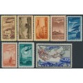RUSSIA / USSR - 1949 50K to 3R Airmail set of 8, MH – Michel # 1401-1408