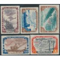 RUSSIA / USSR - 1951 Hydroelectric Power Stations set of 5, MH – Michel # 1601-1605