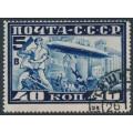 RUSSIA / USSR - 1930 40K deep blue Graf Zeppelin, perf. 12½, used – Michel # 390A