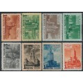 RUSSIA / USSR - 1950 Moscow Skyscrapers set of 8, MH – Michel # 1527-1534