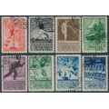 RUSSIA / USSR - 1938 5K to 80K Sports in the USSR set of 8, used – Michel # 657-654