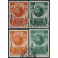 RUSSIA / USSR - 1946 October Revolution sets of 2, perf. & imperf., used – Michel # 1074-1075