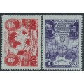 RUSSIA / USSR - 1950 Antarctic Expedition set of 2, MH – Michel # 1513-1514