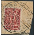 RUSSIA - 1922 3Kop red Coat of Arms Stamp Day overprint, used – Michel # 187I