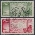 RUSSIA / USSR - 1932 Polar Flight set of 2, perf. 12½, used – Michel # 410A-411A