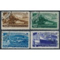 RUSSIA / USSR - 1948 Five Year Plan (Transport) set of 4, used – Michel # 1252-1255