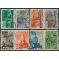 RUSSIA / USSR - 1950 Moscow Skyscrapers set of 8, used – Michel # 1527-1534