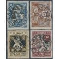 RUSSIA / UKRAINE - 1923 Hunger Relief set of 4, crosses & rings watermark, used – Michel # 67XA-70XA