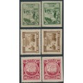 RUSSIA / USSR - 1925 Decembrist Uprising sets of 3, perf. & imperf., MH – Michel # 305-307