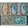 RUSSIA / USSR - 1929 Children's Charity set of 4, used – Michel # 361-362 + 383-384