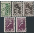 RUSSIA / USSR - 1933 Karl Marx set of 3, both watermarks, used – Michel # 424-425