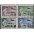 RUSSIA / USSR - 1931 Zeppelin Polar Flight set of 4, perf. 12:12½, MH – Michel # 402C-405C