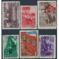 RUSSIA / USSR - 1948 Komsomol set of 6, used – Michel # 1280-1285