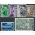 RUSSIA / USSR - 1949 Forest Protection set of 6, used – Michel # 1385-1390