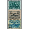 RUSSIA / USSR - 1950 Agriculture set of 3, used – Michel # 1470-1472