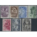 RUSSIA / USSR - 1932 3K to 35K October Revolution set of 7, used – Michel # 414-420