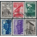 RUSSIA / USSR - 1950 Anniversary of The Latvian SSR set of 6, used – Michel # 1494-1499