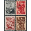 RUSSIA / USSR - 1950 Peace Conference set of 4, used – Michel # 1507-1510