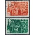RUSSIA / USSR - 1949 October Revolution set of 2, used – Michel # 1397-1398