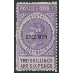 AUSTRALIA / SA - 1892 2/6 violet Long Tom overprinted SPECIMEN, MH – SG # 195as