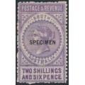 AUSTRALIA / SA - 1886 2/6 violet Long Tom overprinted SPECIMEN, MH – SG # 195as