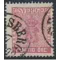 SWEDEN - 1858 50öre rose Coat of Arms, used – Facit # 12h