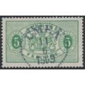 SWEDEN - 1884 5öre light yellow-green Official (Tjänstemärke), perf. 13, used – Facit # TJ14h