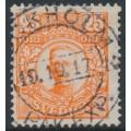 SWEDEN - 1911 25öre orange Gustaf V in medallion, used – Facit # 86b