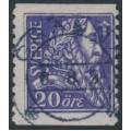 SWEDEN - 1921 20öre violet Gustav Vasa, used – Facit # 153b