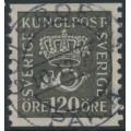 SWEDEN - 1925 120öre black Crown & Posthorn, used – Facit # 171a