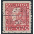 SWEDEN - 1925 15öre red King Gustav V, used – Facit # 176A
