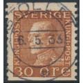 SWEDEN - 1925 30öre brown King Gustav V, used – Facit # 186Aa