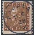SWEDEN - 1935 45öre brown King Gustav V on white paper, used – Facit # 191Ab