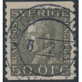 SWEDEN - 1921 50öre grey King Gustav V, used – Facit # 192Ab