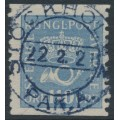 SWEDEN - 1920 110öre greyish ultramarine Crown and Posthorn, used – Facit # 169a