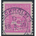 SWEDEN - 1935 120öre rose-lilac Crown and Posthorn on white paper, used – Facit # 172a