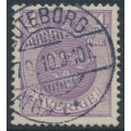 SWEDEN - 1910 4öre bluish lilac Coat of Arms with crown watermark, used – Facit # 70b