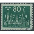 SWEDEN - 1924 80öre blue-green World Postal Congress, used – Facit # 207