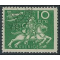 SWEDEN - 1924 10öre green UPU Anniversary with lines watermark, used – Facit # 212cx