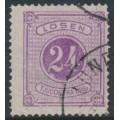 SWEDEN - 1874 24öre violet Postage Due (Lösen), perf. 14, used – Facit # L7a
