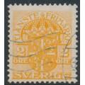 SWEDEN - 1913 2öre orange Official (Tjänstemärke), inverted lines+KPV watermark, used – Facit # TJ41cxz
