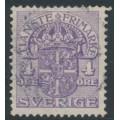 SWEDEN - 1912 4öre lilac Official (Tjänstemarke), inverted lines + KPV watermark, used – Facit # TJ43cxz