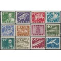 SWEDEN - 1936 300th Anniversary of the PO set of 12 perf. 2 sides, MH – Facit # 246A-257A
