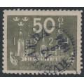 SWEDEN - 1924 50öre grey World Postal Congress, used – Facit # 205