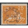 SWEDEN - 1924 25öre orange UPU Anniversary, used – Facit # 215
